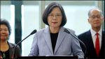 Taiwan's president says no one can 'obliterate' country's existence ahead of US visit.JPG